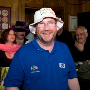 The hat - my prize! (The shirt is our team shirt, kindly provided by Nobby Usher)